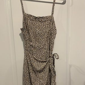 Abercrombie & Fitch leopard print wrap dress